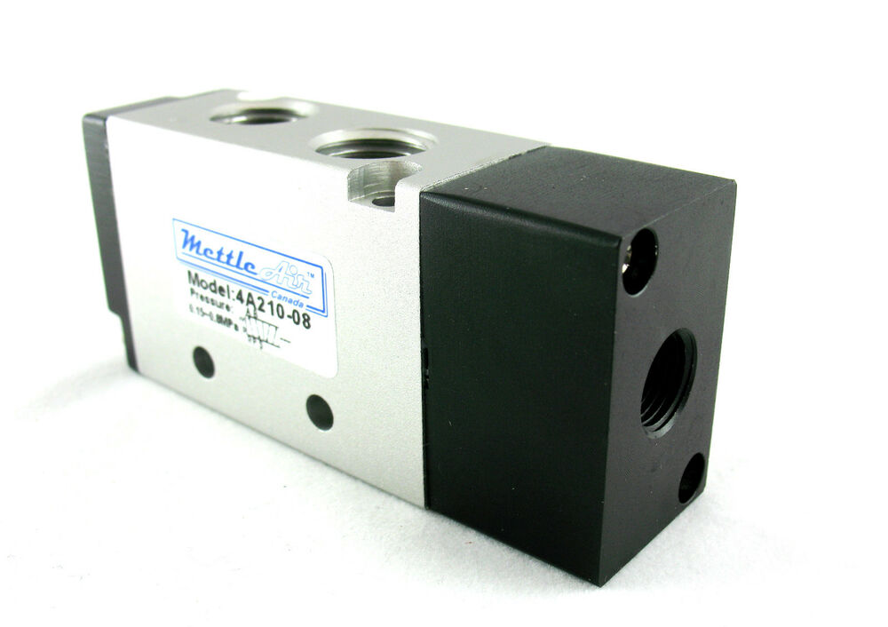 1pc 5 Ports 4 Way 2 Position Piloted Pneumatic Valve 1 4
