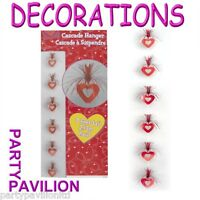 Red Heart Shaped Hanging Cascade Valentines / Wedding Day Party Decorations