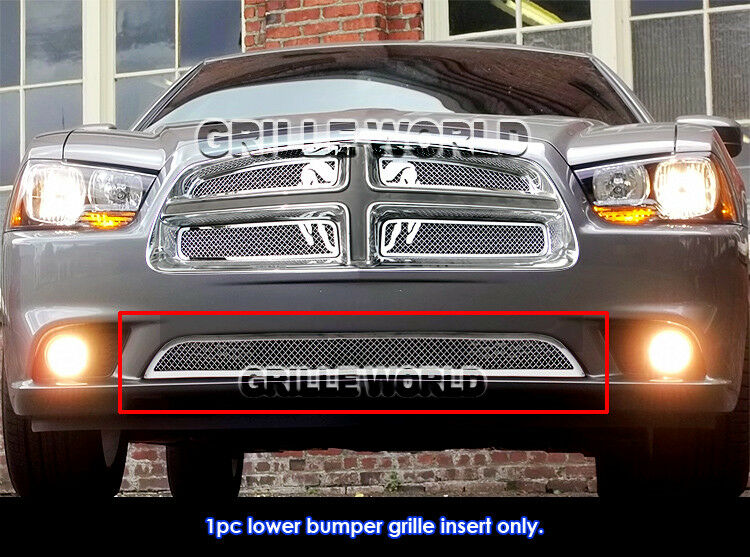 for 2011 2014 dodge charger bumper stainless steel mesh. Black Bedroom Furniture Sets. Home Design Ideas