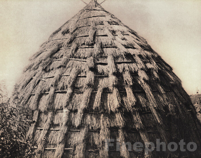 1900 72 folio print native american indian grass house for 1900 architecture houses