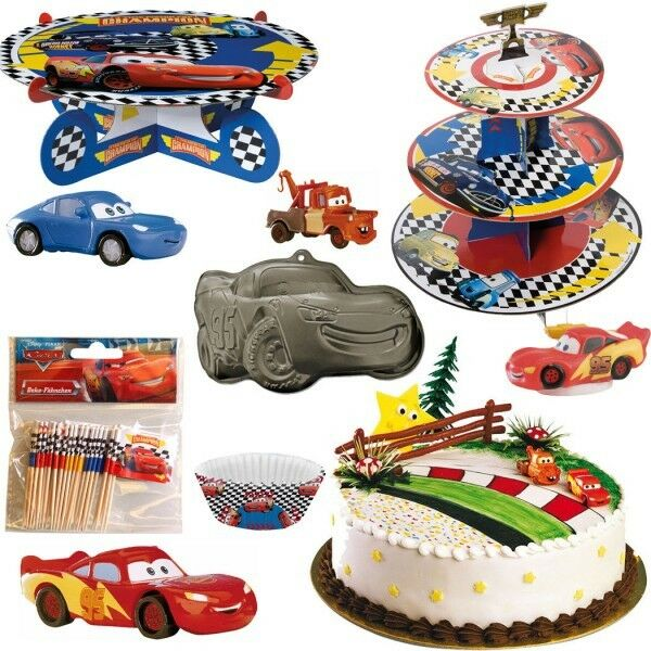 disney cars kuchendeko tortendeko party kindergeburtstag geburtstag deko backen ebay. Black Bedroom Furniture Sets. Home Design Ideas