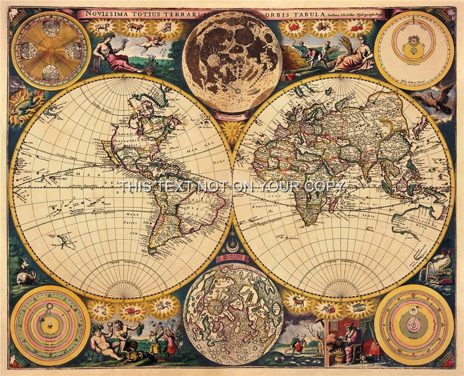 This is a photo of Witty Printable Vintage Maps