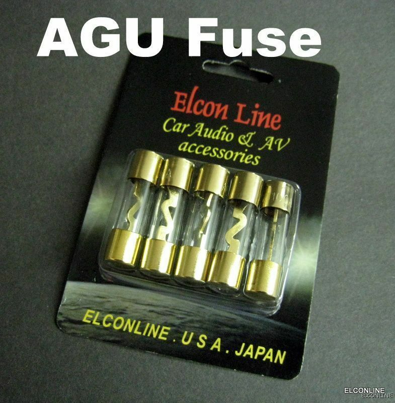 5 X High Quality Brass Agu Glass Fuse 100a 100 Amp Car