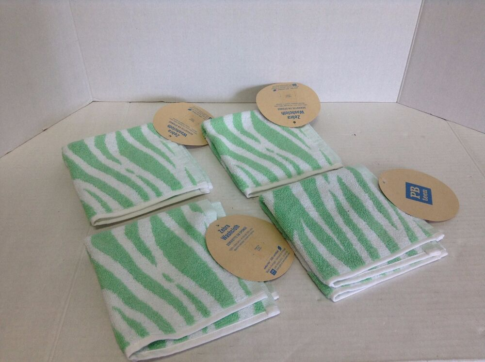 4 pottery barn teen zebra stripe bath shower bathroom for Pottery barn teen bathroom