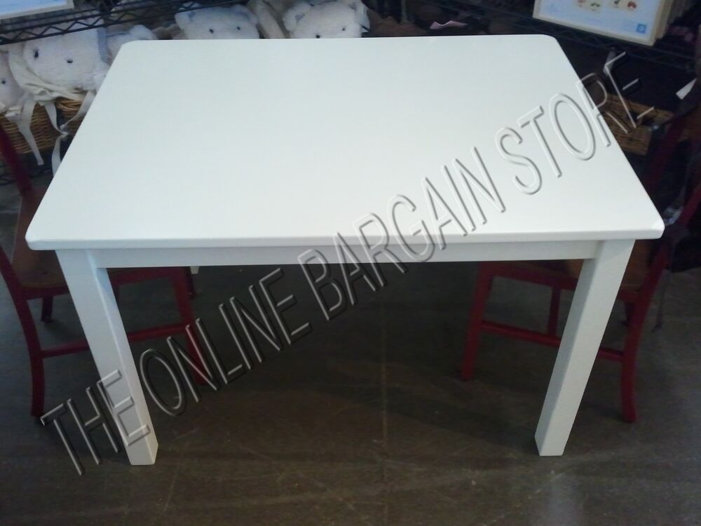pottery barn kids activity wall cameron craft play table desk train white 49x29 ebay. Black Bedroom Furniture Sets. Home Design Ideas