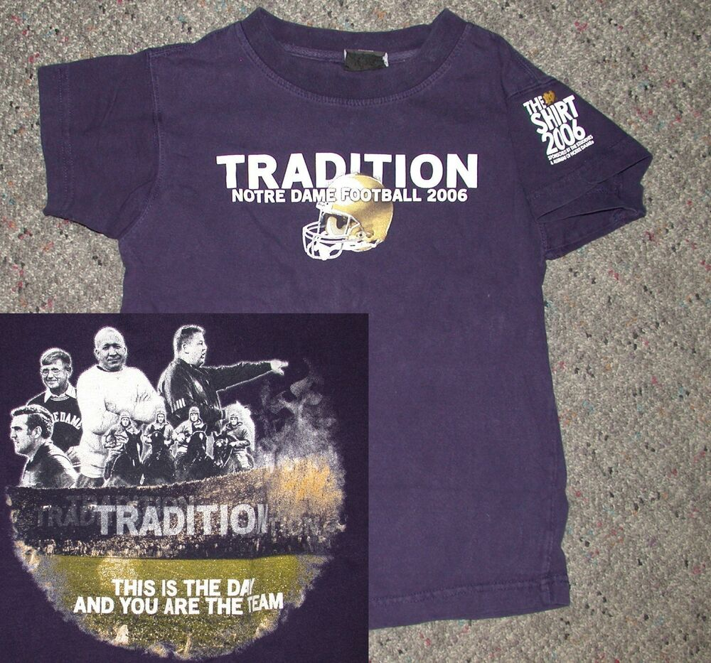 Notre dame fighting irish football 2006 the shirt t shirt for Notre dame youth t shirts