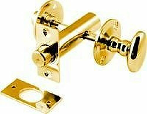 Brass w c toilet bathroom lock door lock bolt thumb turn for Brass bathroom door handles with lock