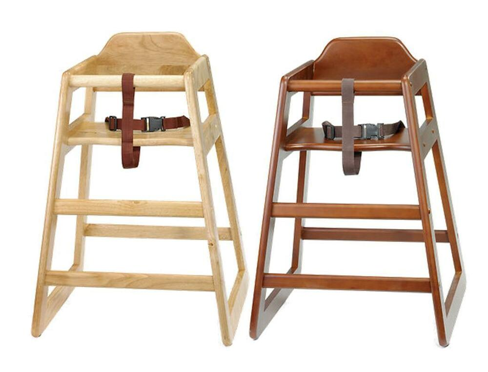 Wooden baby highchair stackable eu compliant commercial