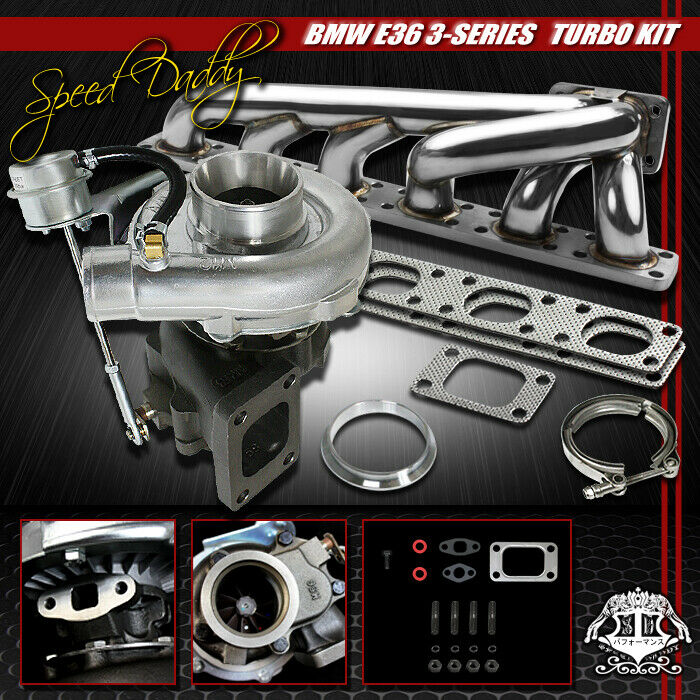 t04e turbocharger w in wastegate turbo manifold 92 99 bmw. Black Bedroom Furniture Sets. Home Design Ideas
