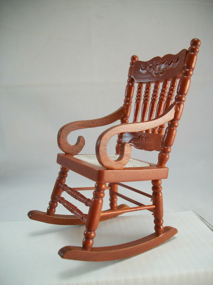 Woven Seat Rocking Chair 1 733 0 Miniature Dollhouse