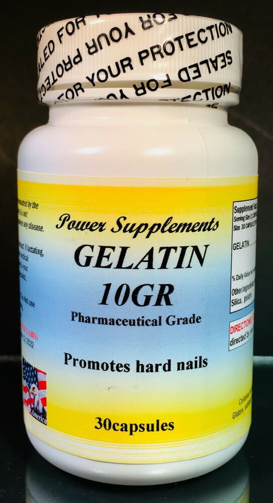 Gelatin 10gr, for hard nails, stomach, reduce ulcers - 30 ...