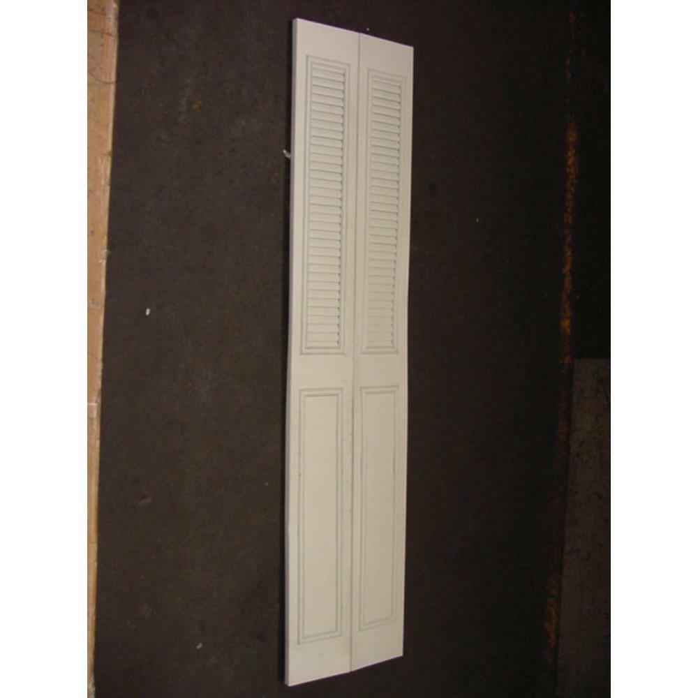 Slimfold 433100 18 x80 ivory classic metal bi fold door for 18 door
