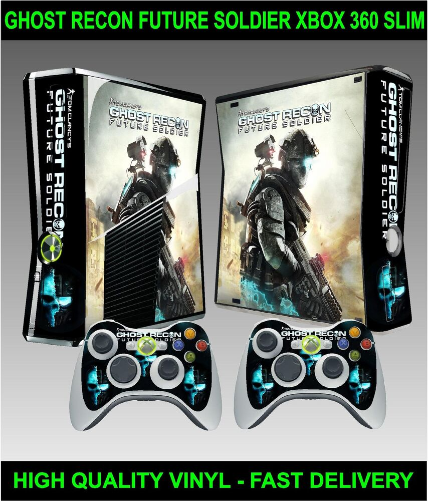Xbox 360 SLIM Console Sticker Skin Ghost Recon Future ...