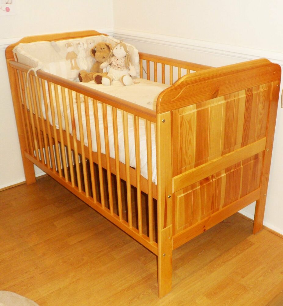 New Solid Pine Cot Bed Junior Bed And Deluxe Cotbed