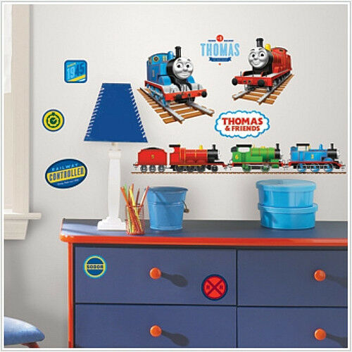 THOMAS THE TANK ENGINE wall stickers 33 decals trains room ...