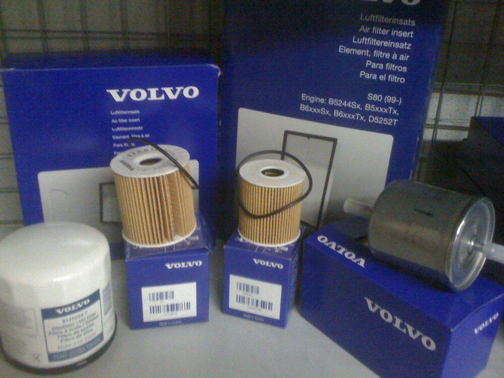 Genuine Volvo Service Kit S40/V40 Oil Air Fuel Filter's And Plugs 1.6 1.8 2.00 | eBay