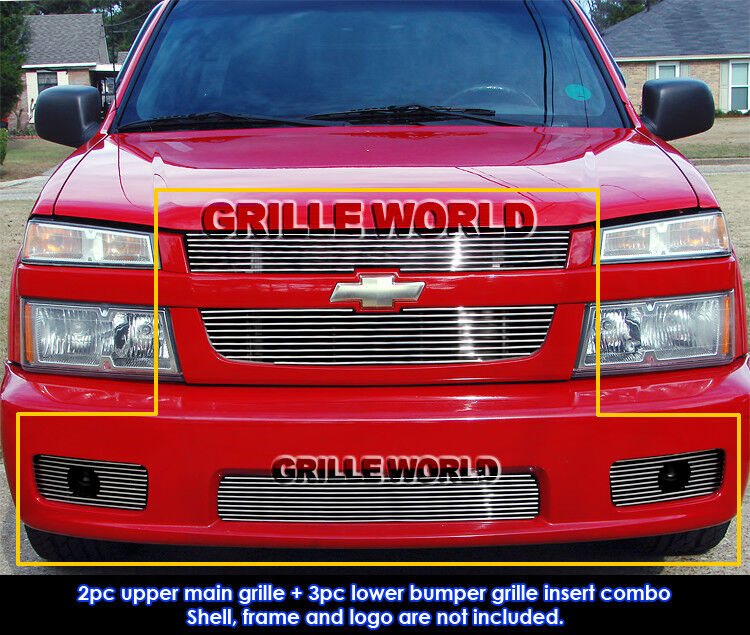 for 04 10 chevy colorado xtreme billet grille grill combo insert ebay. Black Bedroom Furniture Sets. Home Design Ideas