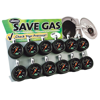 Slime 20055 Mini Magnet Tire Gauge Counter Display 12pc ...