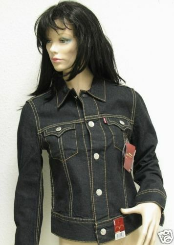 levis damen jeansjacke farbe schwarz gr e s neu ebay. Black Bedroom Furniture Sets. Home Design Ideas