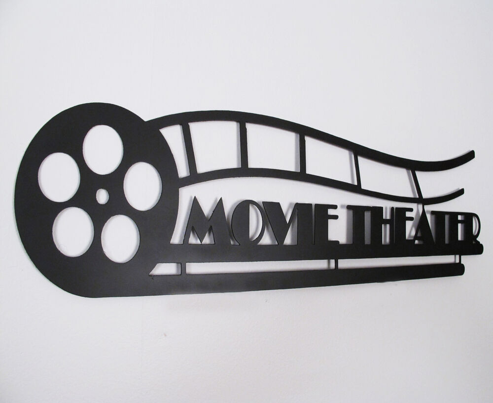 Home Theater Decor Metal Wall Art ~ Metal wall art work movie theater wrought iron home decor