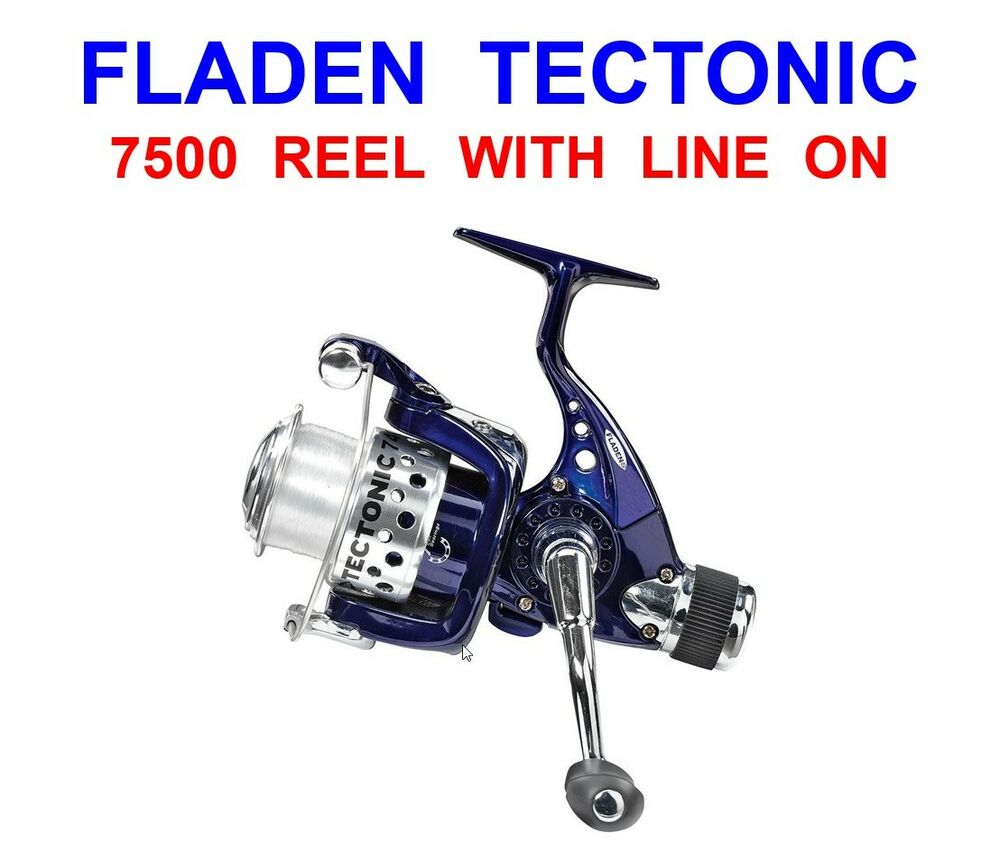 FLADEN TECTONIC 7500 REEL+LINE FOR SEA FISHING BASS PIKE ...