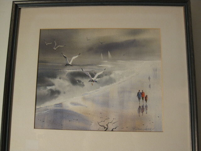 robert landry listed california artist original watercolor signed