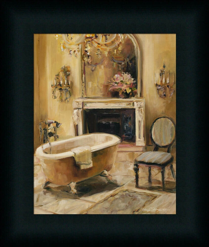 French bath i marilyn hageman bathroom spa framed art for Spa bathroom wall decor