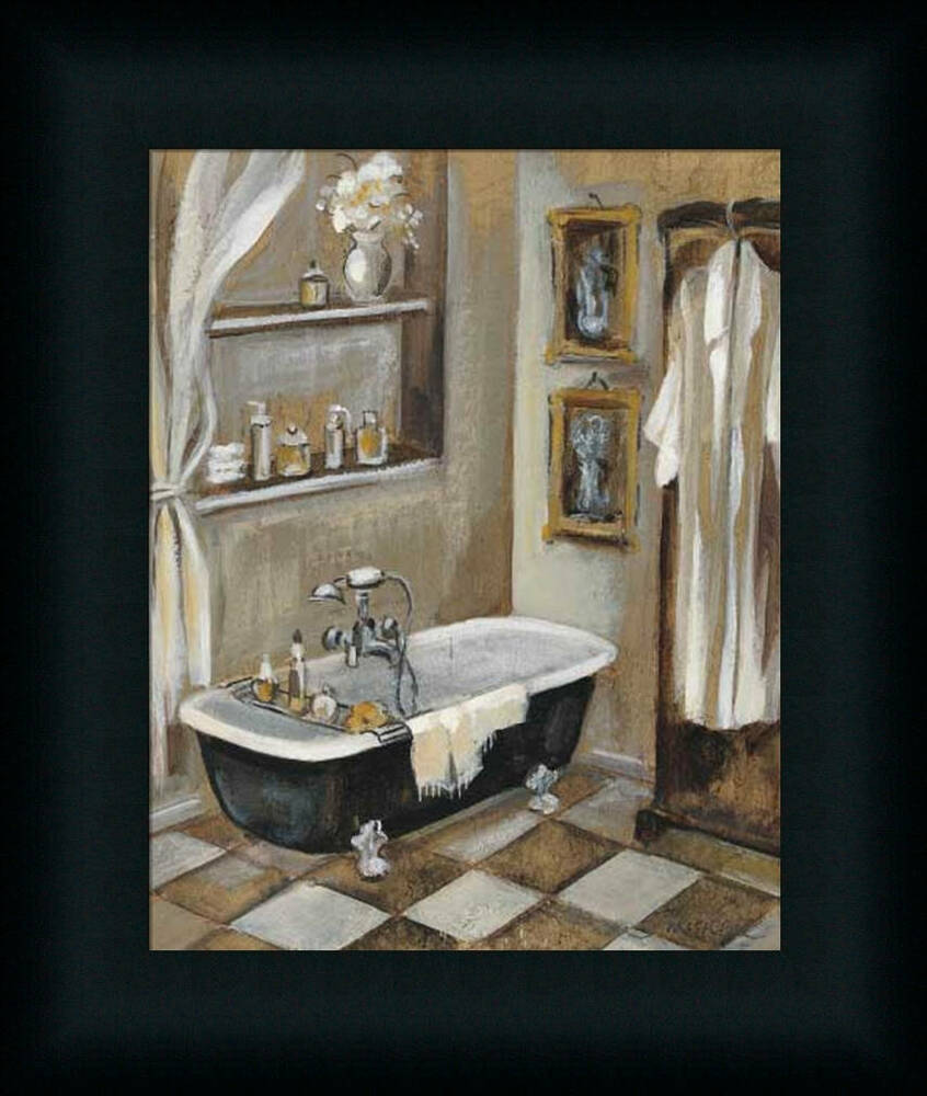 french bath iii silvia vassileva bathroom spa framed art