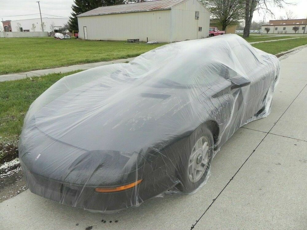 Plastic Covers Garages : Clear plastic temporary universal disposable car cover