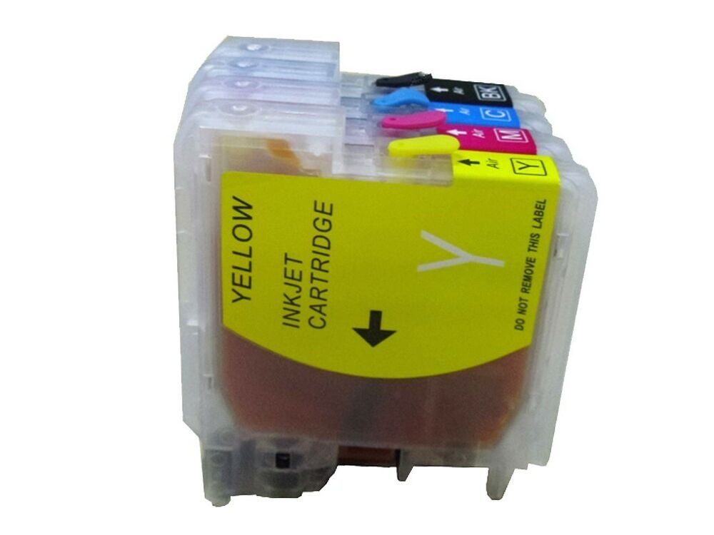 4 refillable ink cartridge brother lc61 65 67 mfc 290c mfc 295cn mfc 490cw 495cw ebay. Black Bedroom Furniture Sets. Home Design Ideas