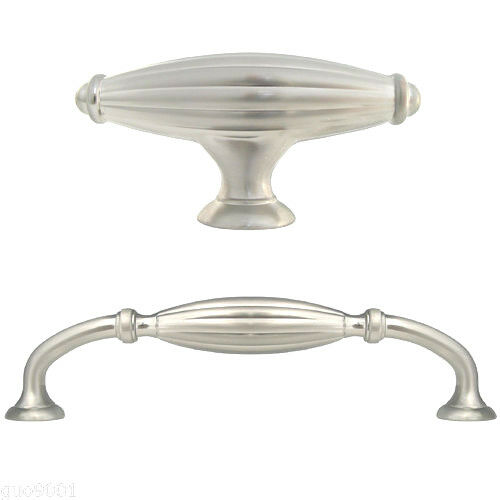 brushed nickel kitchen cabinet handles satin nickel flute kitchen cabinet drawer knobs and pulls 12578