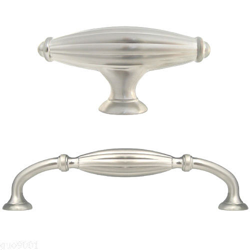 brushed nickel kitchen cabinet knobs satin nickel flute kitchen cabinet drawer knobs and pulls 7967