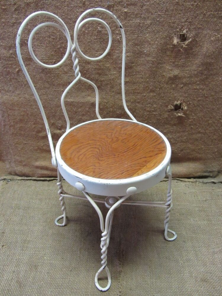 Vintage Childs Ice Cream Chair Antique Old Stool Parlor
