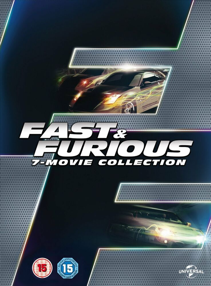 fast and furious complete 1 2 3 4 5 6 7 dvd box set the. Black Bedroom Furniture Sets. Home Design Ideas