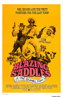 Classic Movie Poster Print: Blazing Saddles *DISCOUNTED OFFERS*  A3 / A4