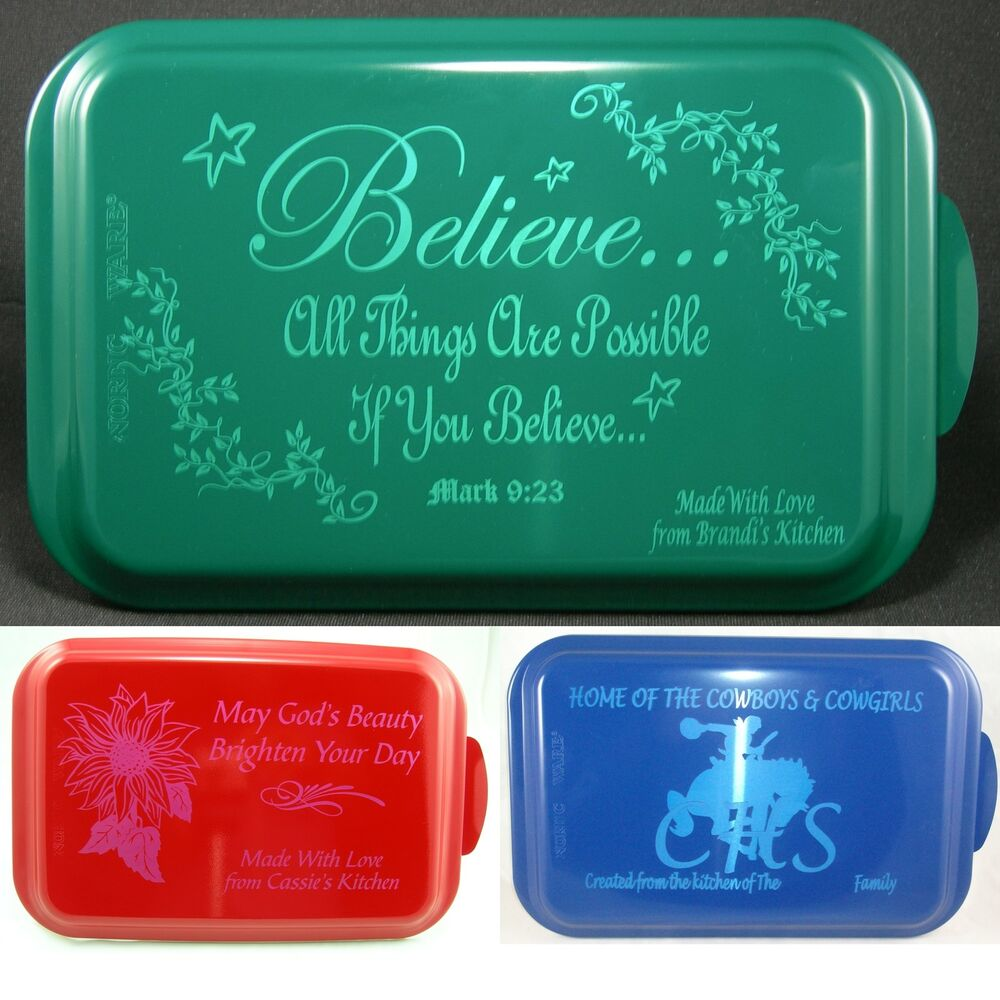 Personalized Glass Cake Pans