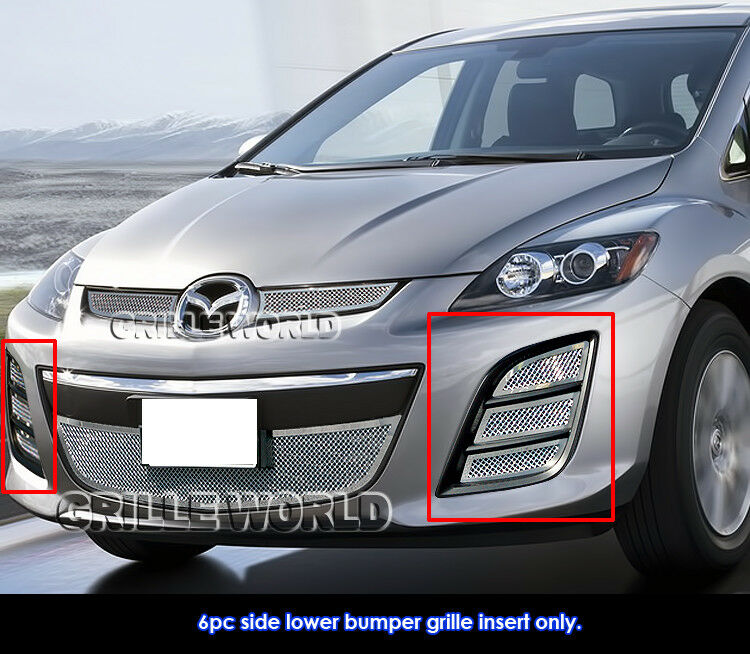 2010 2012 mazda cx7 i cx 7 s stainless steel bumper mesh. Black Bedroom Furniture Sets. Home Design Ideas