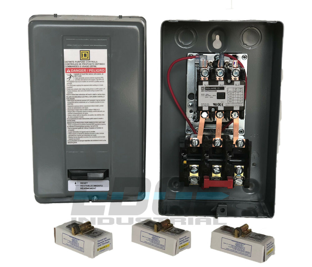 Square D Electric Magnetic Motor Starter Control 10hp 3ph