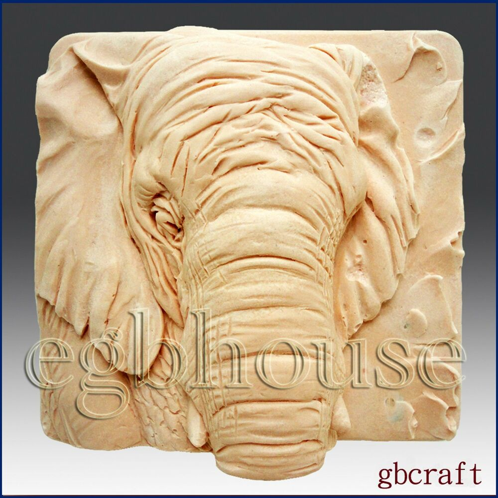 Elephant close up detail of high relief sculpture soap