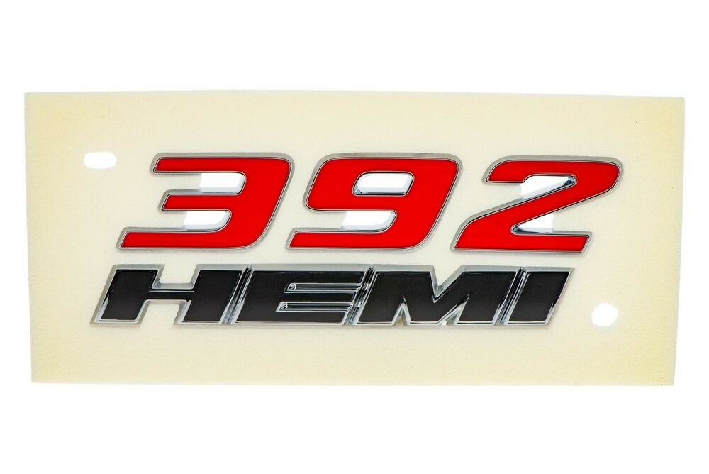 392 Hemi Charger >> Jeep Dodge Chrysler 392 HEMI Emblem MOPAR GENUINE OE NEW Challenger Charger 300 | eBay