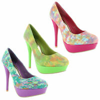 New Ladies Stiletto High Heel Platform Classic Court Sandals Size UK 3 4 5 6 7 8