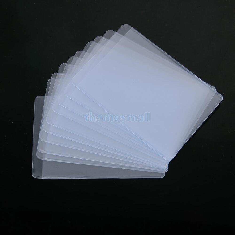 10pcs Soft Plastic Clear Credit Card Sleeves Protectors  : s l1000 from www.ebay.com size 1000 x 1000 jpeg 35kB
