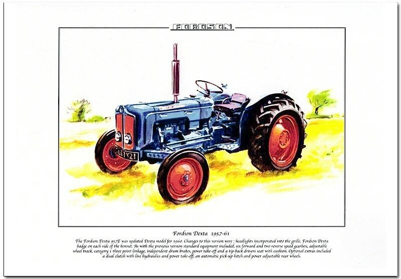 Tractor Power Take Off : Fordson dexta e tractor fine art print a size