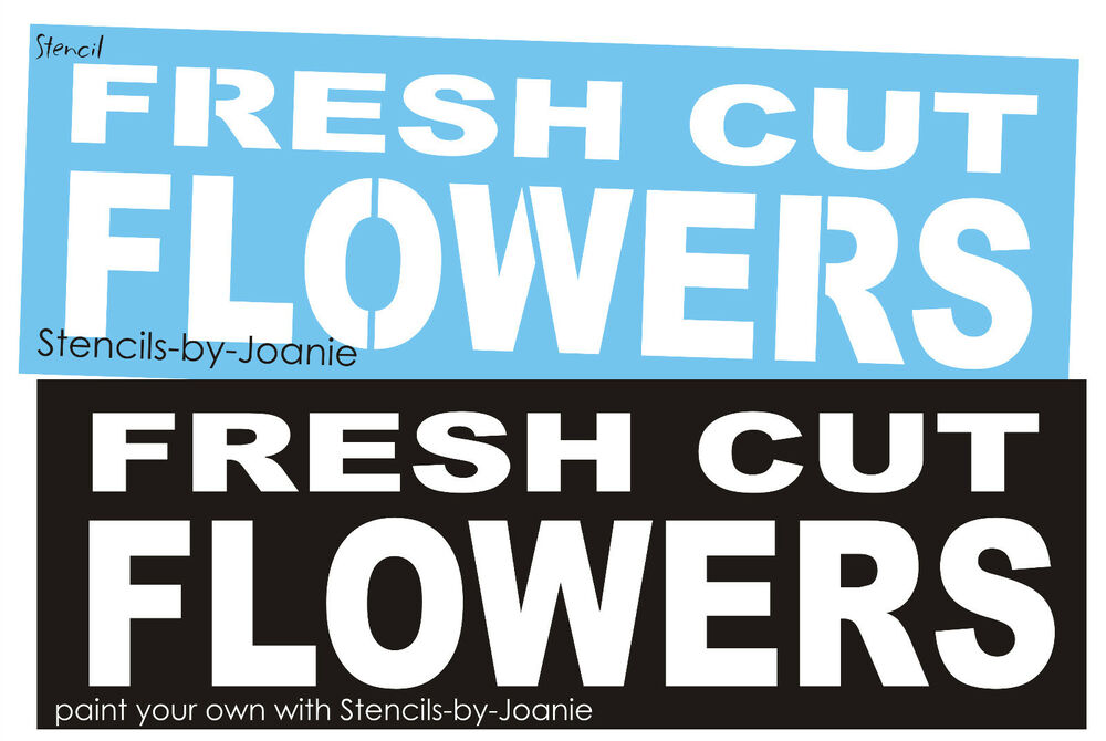 Fresh cut flowers block font easy paint garden chic market ebay