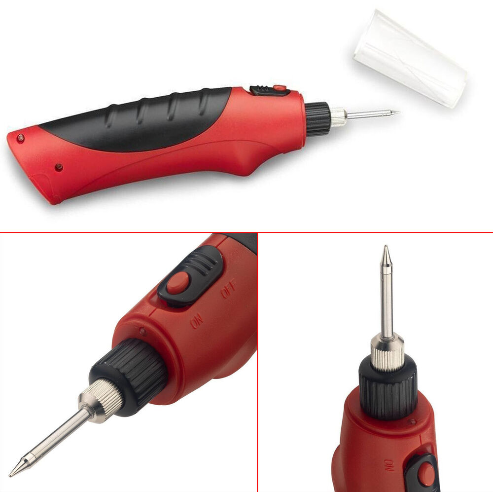 cordless soldering iron gun w led light solder welding hobby tools ebay. Black Bedroom Furniture Sets. Home Design Ideas