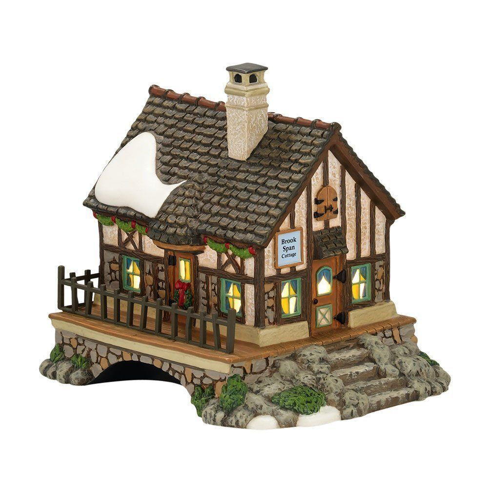 department 56 dickens village devon brook span cottage 4025257 bnib dept 56 ebay. Black Bedroom Furniture Sets. Home Design Ideas