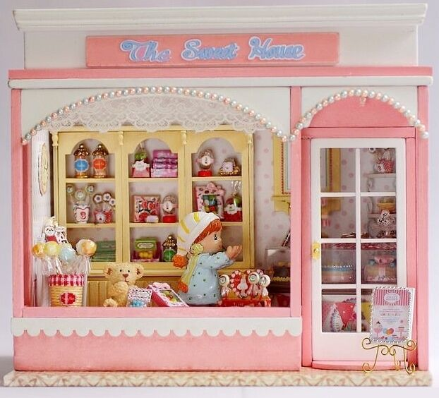 Dollhouse Miniature DIY Kit W/ Light Love Story Sweet