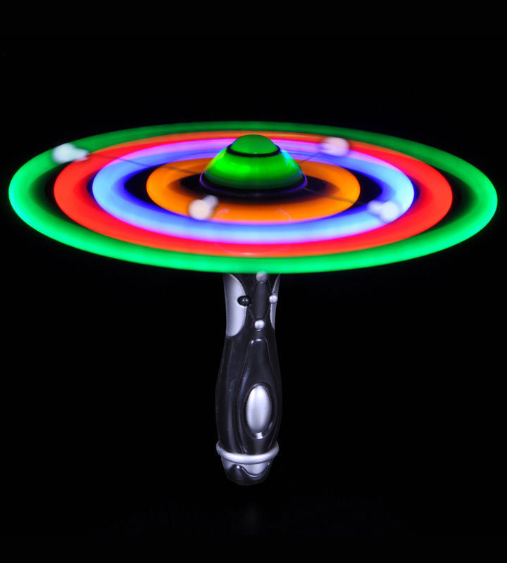 25 new flashing light up ufo wands spinning led color for Led wands wholesale