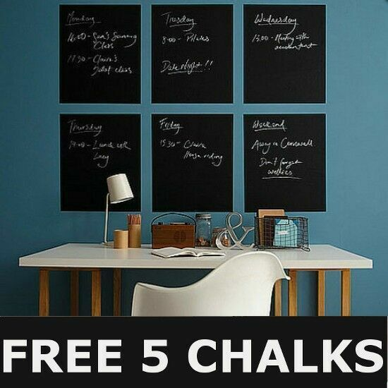 45×200cm Blackboard Removable Vinyl Wall Sticker ...