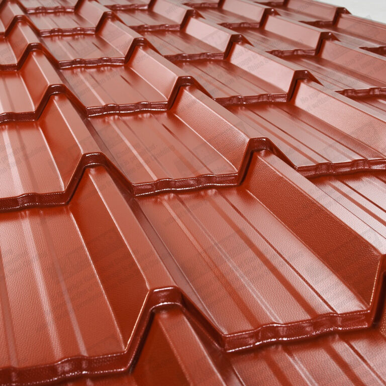 Steel Roofing Sheets Tile Effect Pvc Coated Metal Roof
